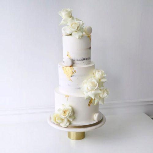 """Wedding Cake """"All White"""""""