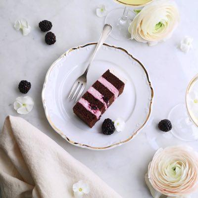 Brownie Blackberry Torte