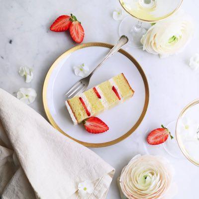 Erdbeer Champagner Torte
