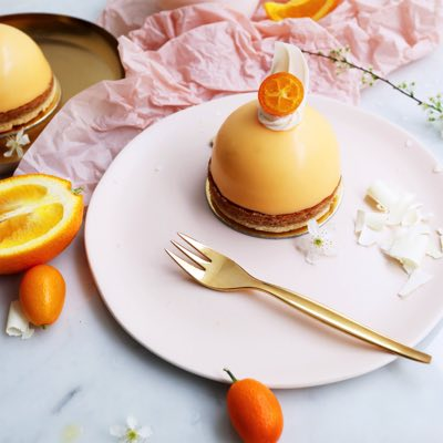 Mandarine Weiße Schokoladen Toertchen
