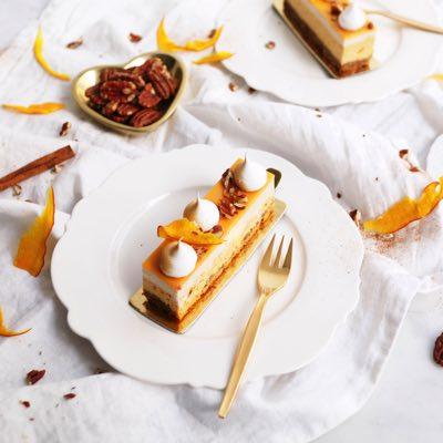 Pumpkin Pie Cheesecake Schnitte