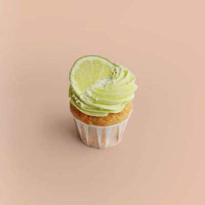 Cupcake mit Kokos, Limetten und Limetten-Creamcheese