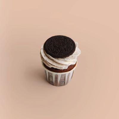 Cupcake mit Schokostückchen, Oreo Cookie Stückchen