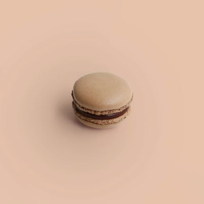 Dunkle Schokolade Macaron